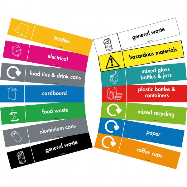 self adhesive vinyl labels for recycle bins
