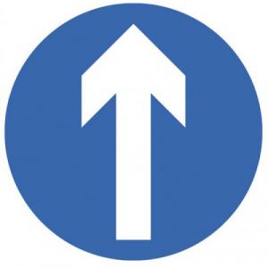 arrow floor sign for flow control