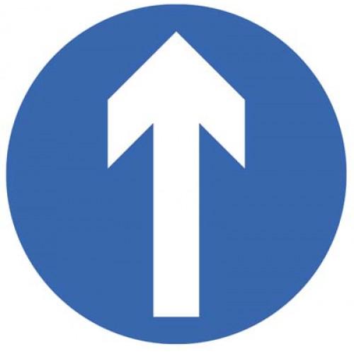 arrow floor sign for flow control