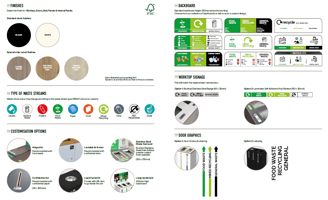 aspire bin the best 3 compartment recycling bin with bespoke options