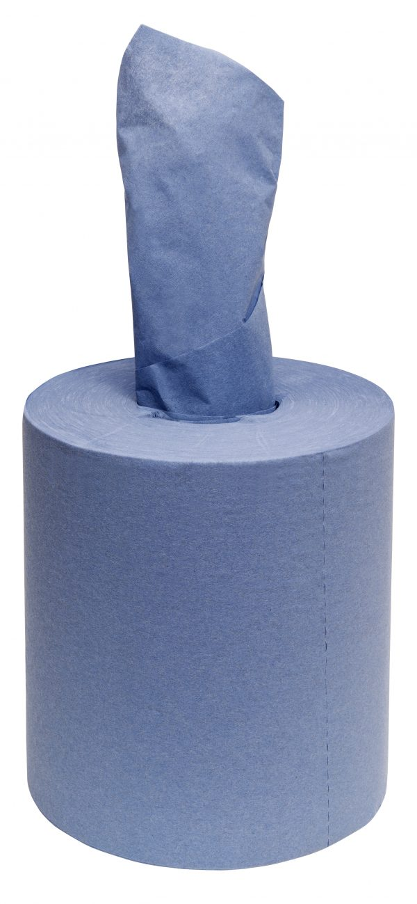 centre feed paper towel roll blue