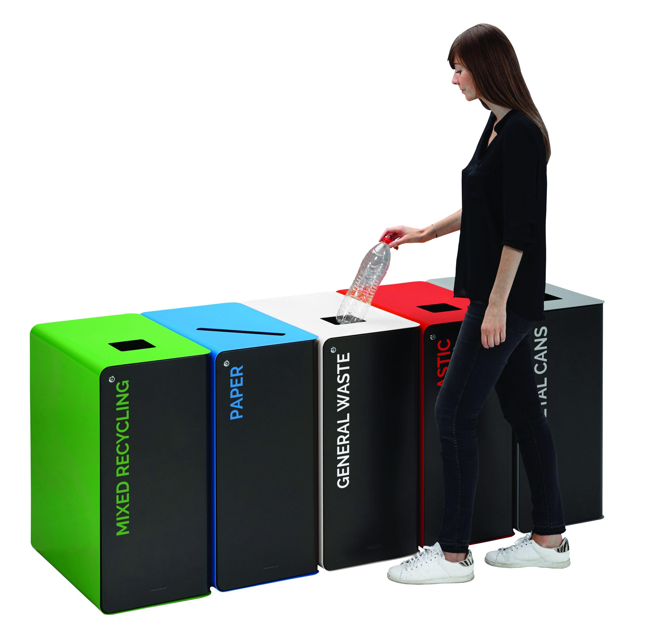 confidential waste bin with lockable door