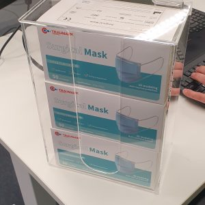 disposable face mask dispenser to hold up to 150 masks