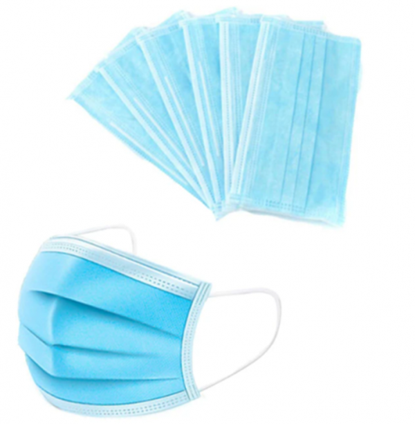 disposal 3 ply type iir face masks blue box of 50
