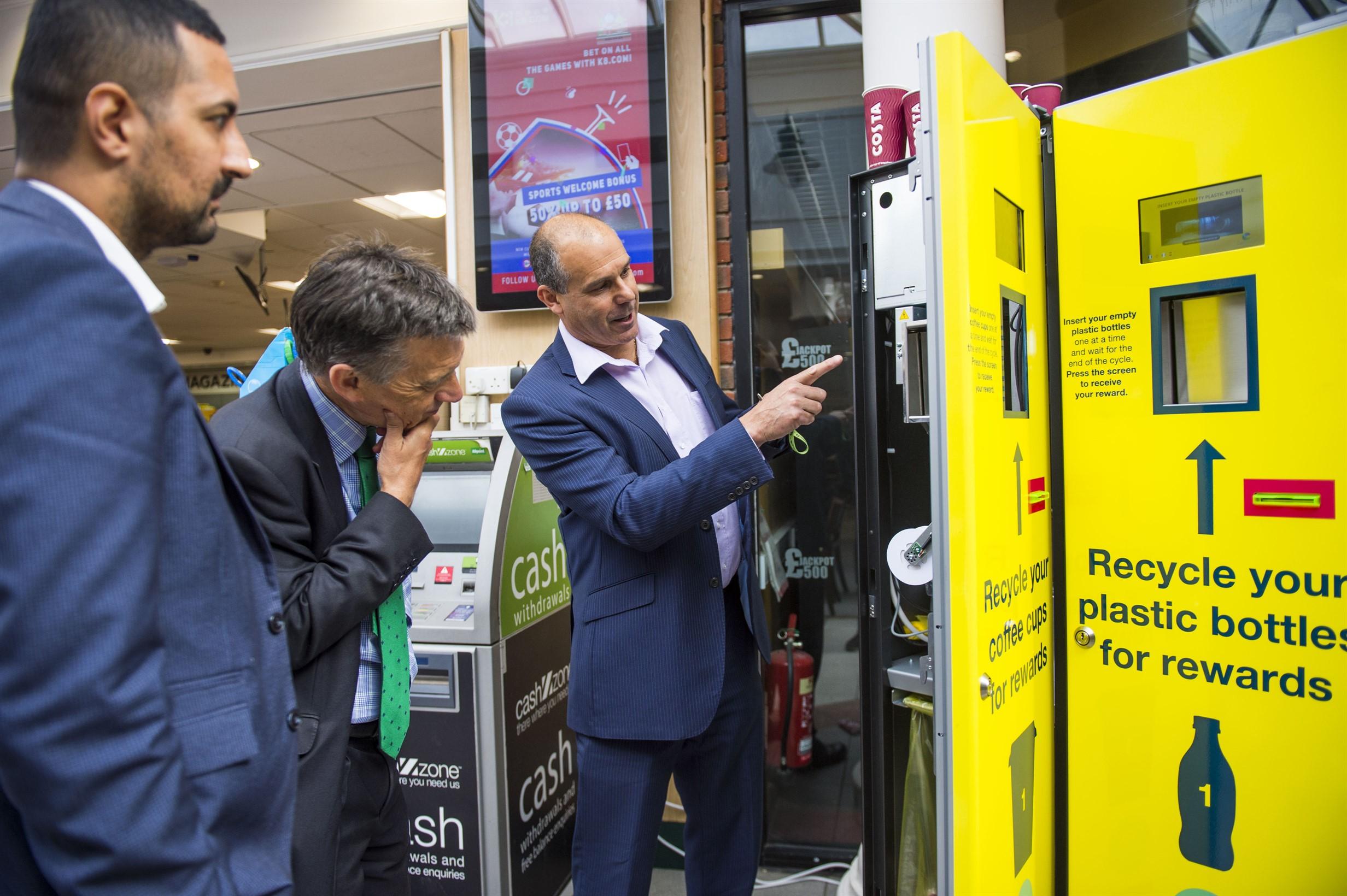 drive down litter unisan reverse vending machine