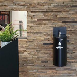 estilo powder coated steel wall mount sanitiser dispenser station