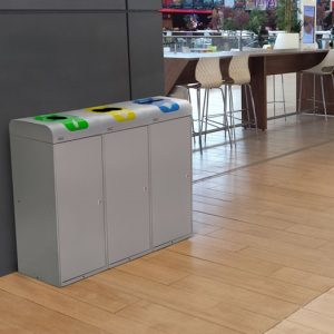 excel recycling bin station for canteens and offices