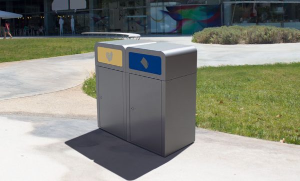 excel recycling bin station suitable for outdoor use