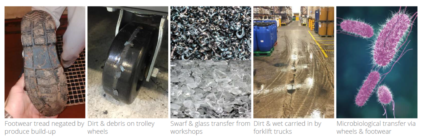 factory floor dirt dust damp and contaminants