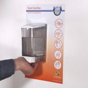 hand sanitiser dispenser sign