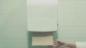 touchless hand towel dispenser