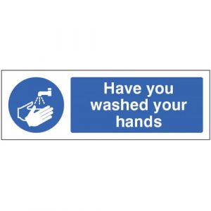 have you washed your hands floor graphic sign
