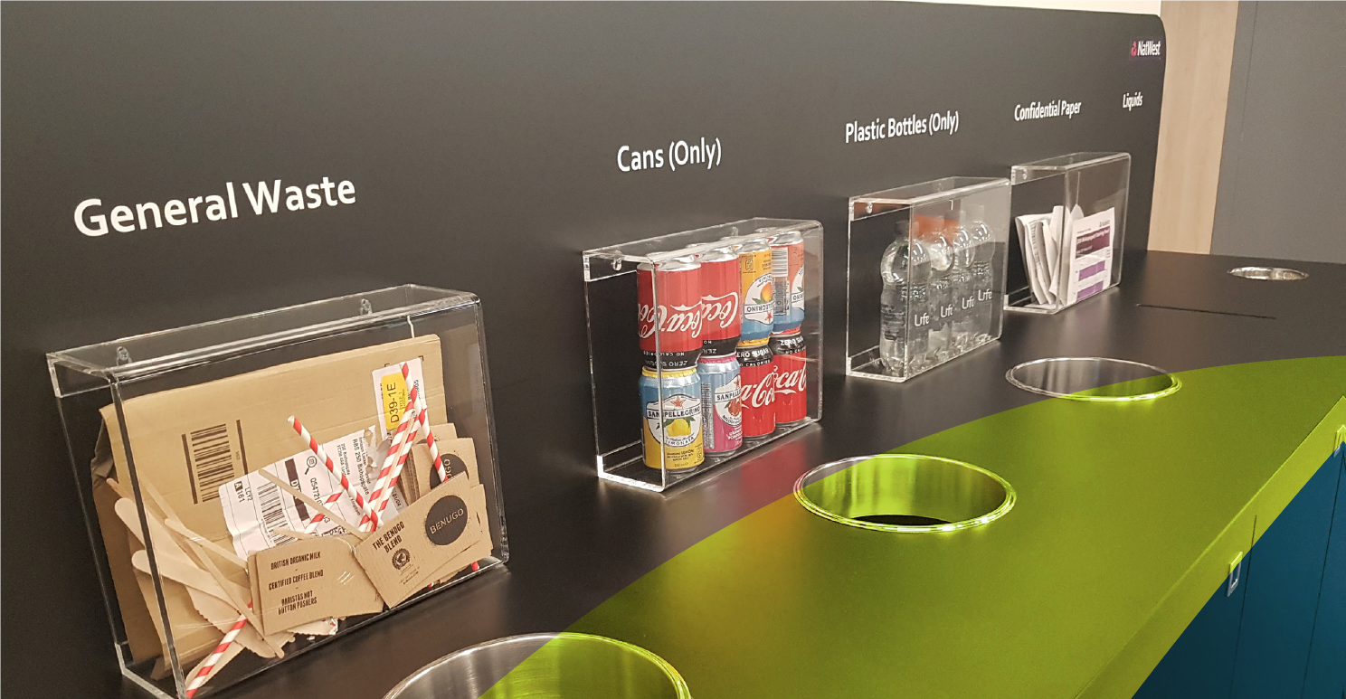 how to recycle more in the workplace