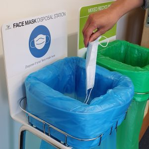 longopac face mask disposal station