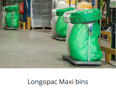 longopac maxi bins for distribution centre recycling and waste