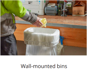 longopac wall mounted bins for warehouses