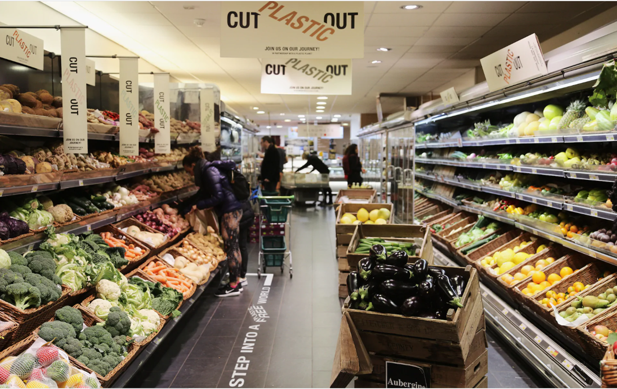 plastic free supermarket isle