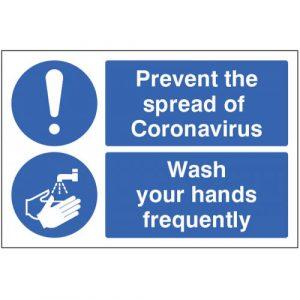prevent the spread of coronavirus floor graphic sign