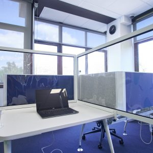 rapid desk divider transparent