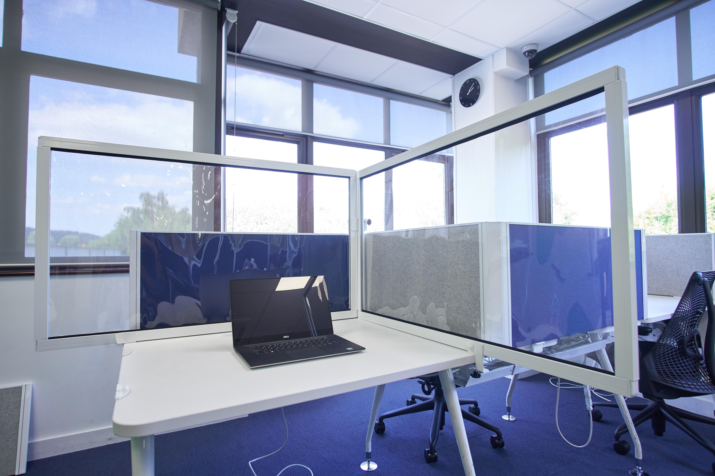rapid desk divider transparent