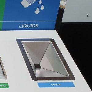 rectangular stainless steel liquid waste funnel kit