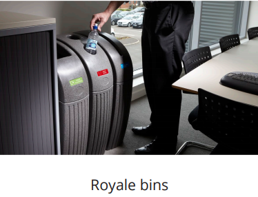royale slim fit office recycling bins