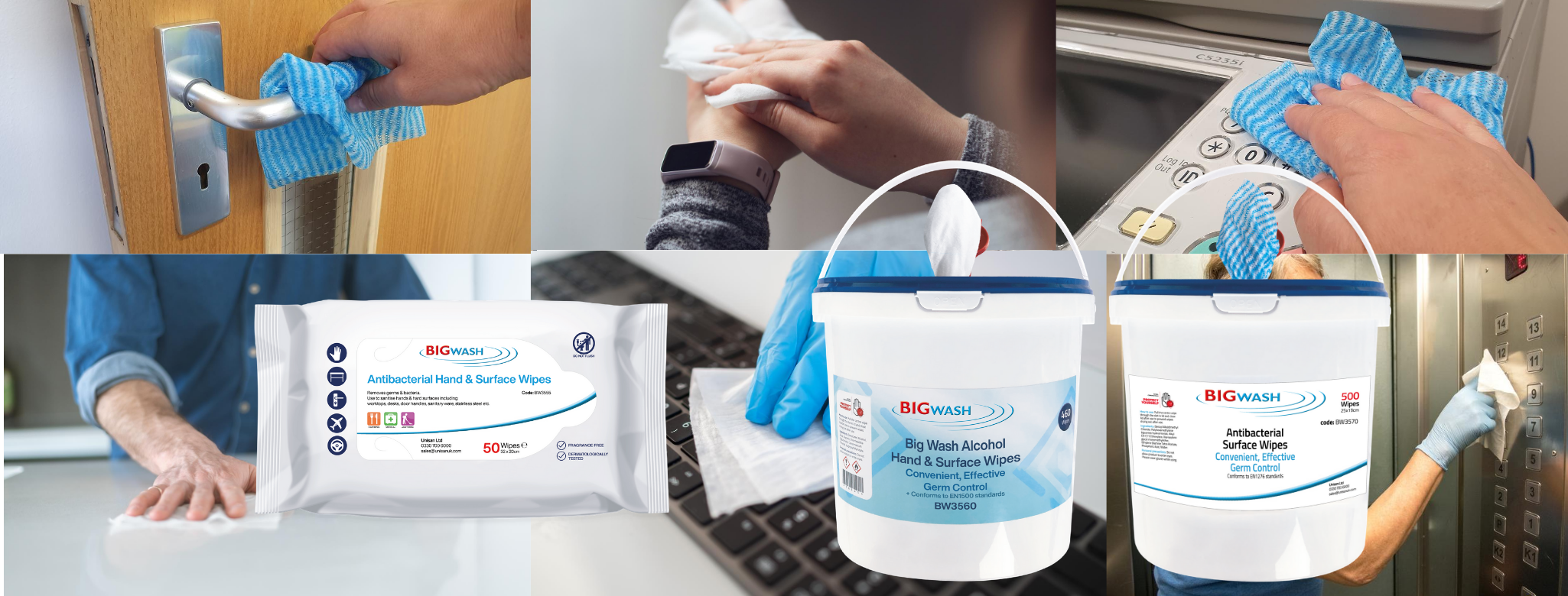 antibacterial sanitiser wipes