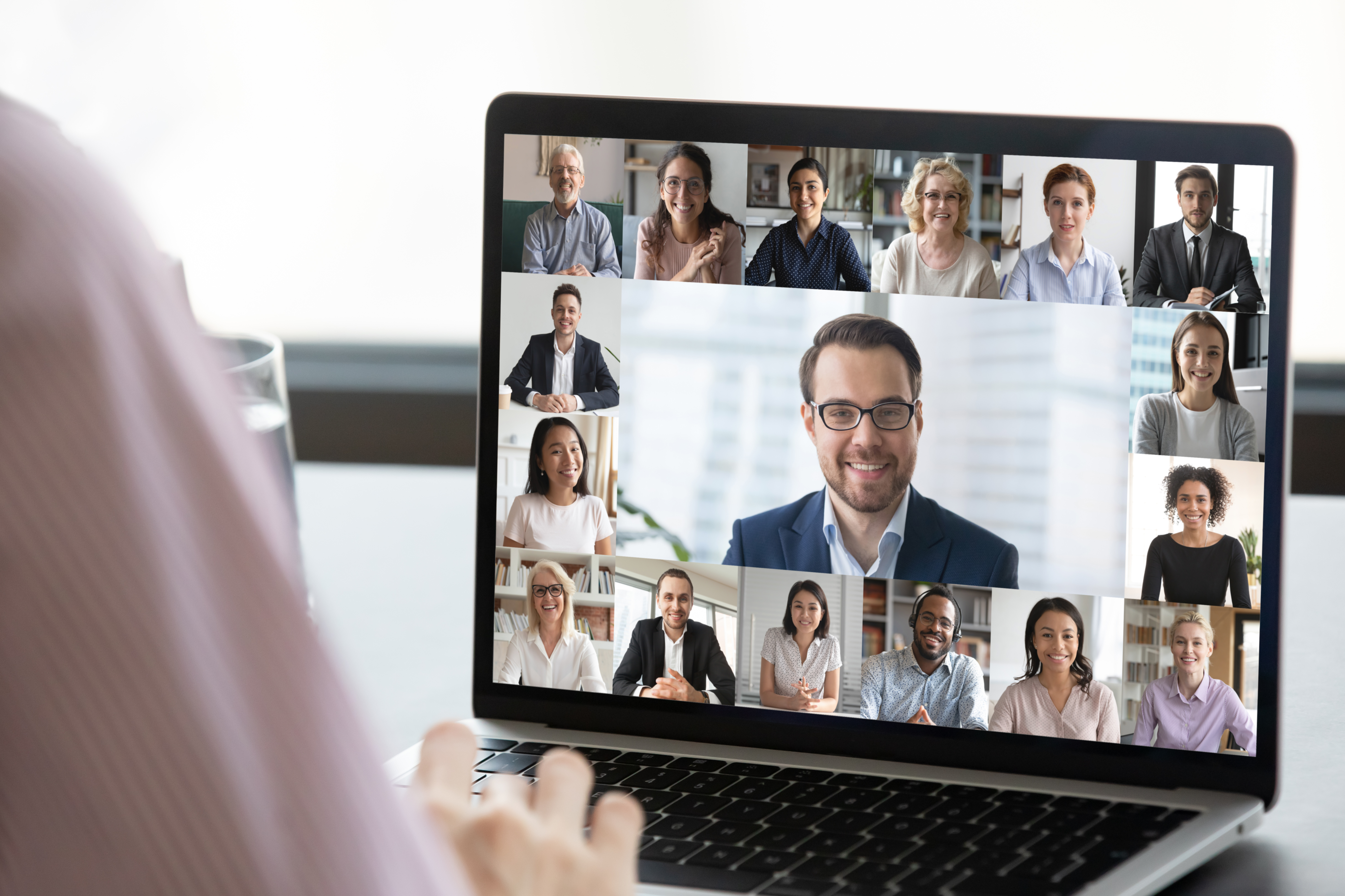 educating staff on social distancing on video conference