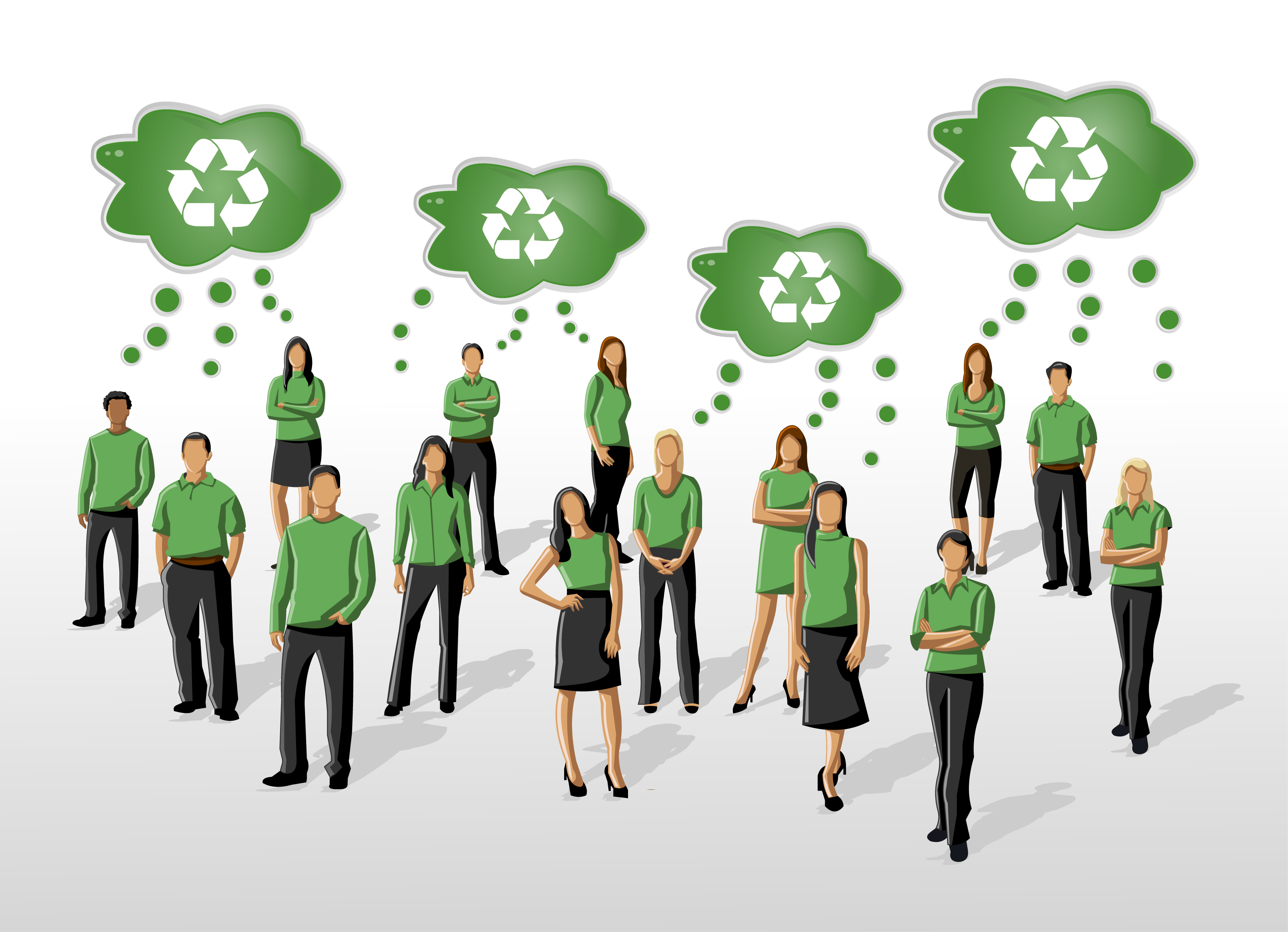 how to encourage recycling at work and get staff to think green