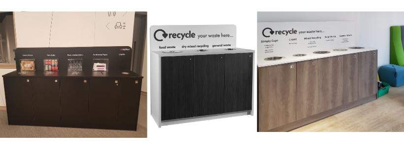 smart recycling bin cabinets