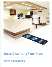 social distancing floor mat signs