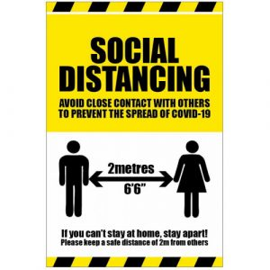 social distancing poster sign