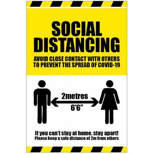social distancing poster sign