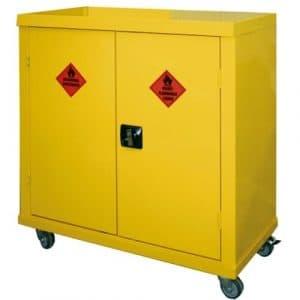 mobile hazardous storage cabinet