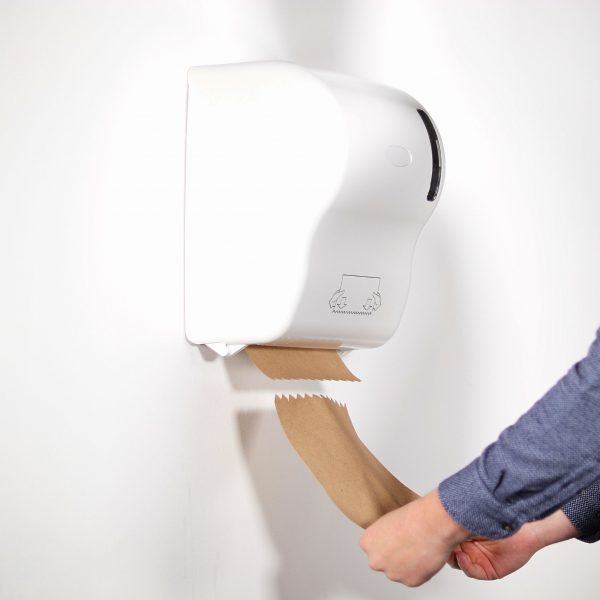 touch free auto cut hand towel dispenser