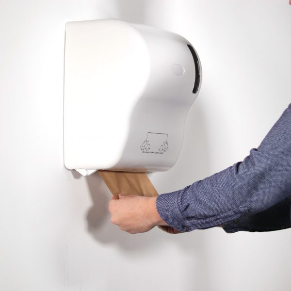 touch-free hand towel dispenser