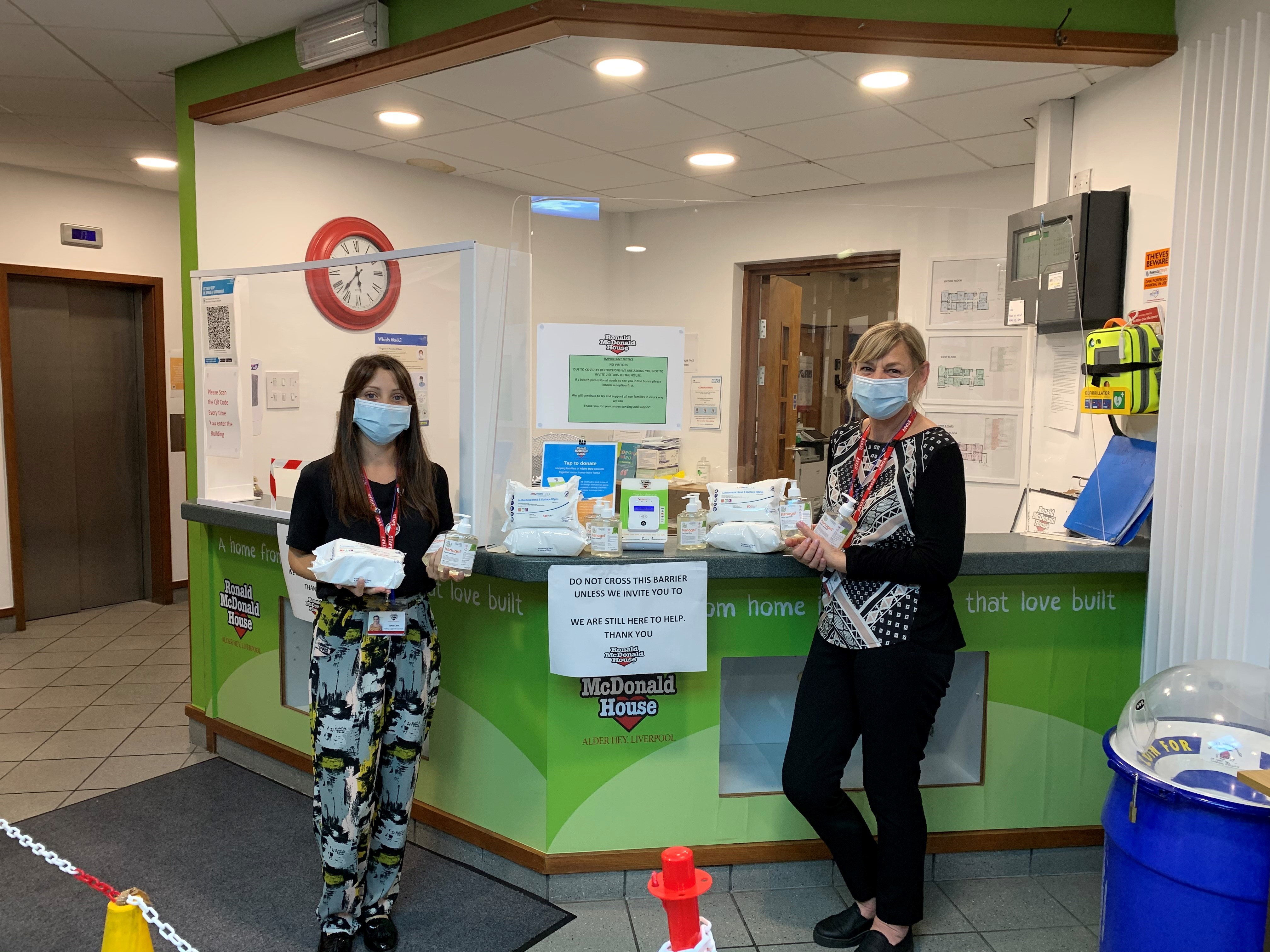 unisan donate covid sanitiser products to ronald mcdonald charity