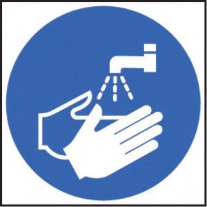 wash hands sign
